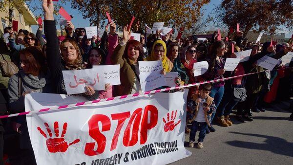 IKBY Süleymaniye maaş krizi protesto - Sputnik Türkiye