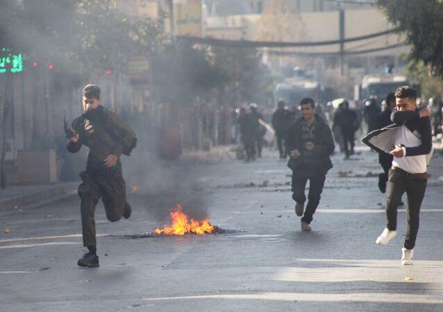 IKBY'nin Süleymaniye kentinde hükümet karşıtı gösteriler