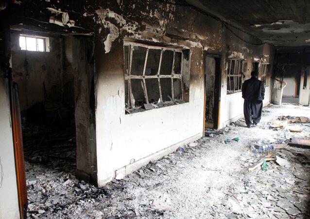 Süleymaniye'de ateşe verilen PUK'a ait bina