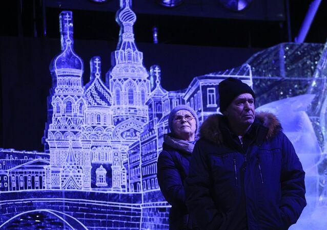 Rusya'nın Saint Petersburg kentindeki Ice Fantasy 2018 Festivali