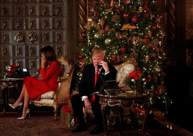 ABD Başkanı Donald Trump- First Lady Melania Trump-Noel