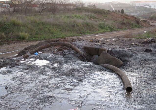 Tuzla'da paniğe neden olan kokunun yayıldığı bölge görüntülendi.