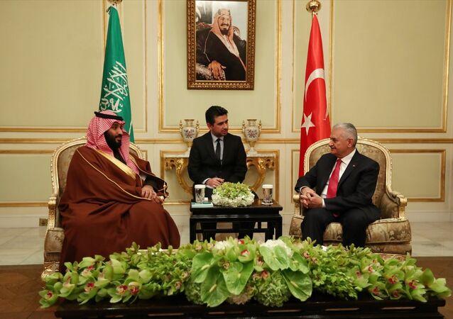 Başbakan Binali Yıldırım ile Suudi Arabistan Veliaht Prensi ve Savunma Bakanı Muhammed bin Selman