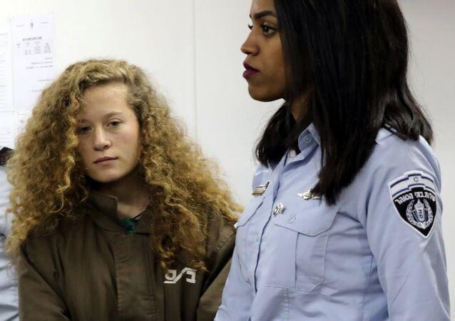 Ahed Tamimi İsrail Ofer Hapishanesi askeri mahkeme