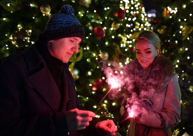 Moskova'da Yeni Yıl kutlaması