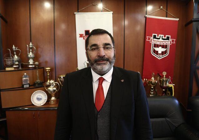 Gaziantepspor'un kulüp başkanı Huzeyfe Durmaz