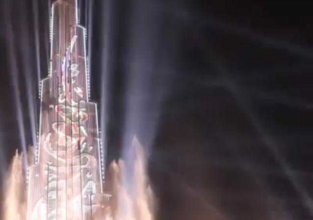 Dubai'de yapılan görkemli lazer gösterisi, Guinness rekoru kırdı