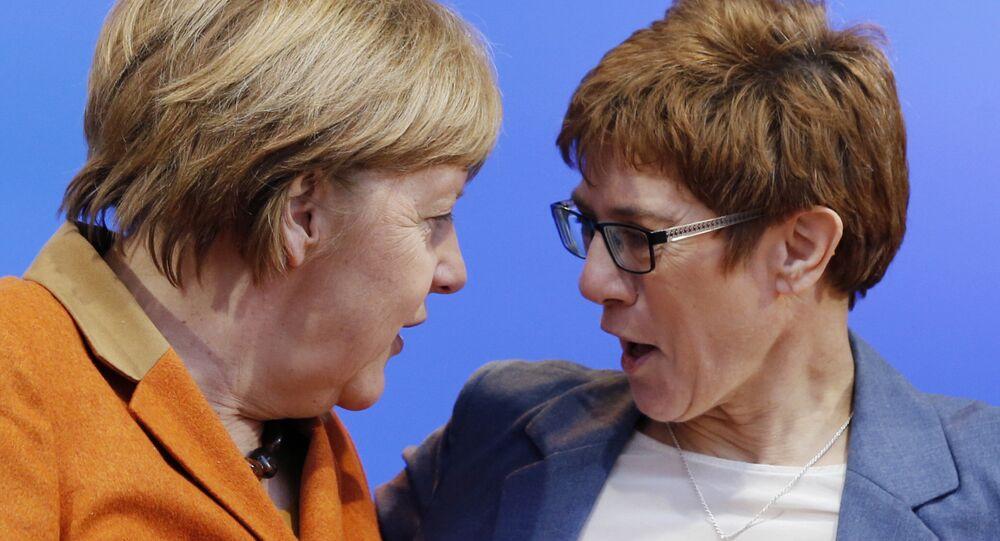 Angela Merkel, Annegret Kramp-Karrenbauer