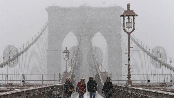 New York'ta kar fırtınası - Sputnik Türkiye