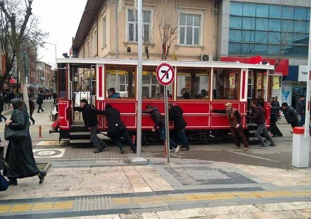 Düzce'deki nostaljik tramvay