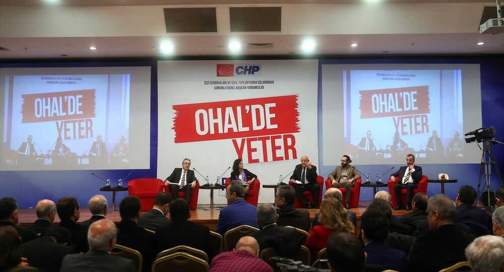 CHP tarafından düzenlenen OHAL'de Yeter Forumu