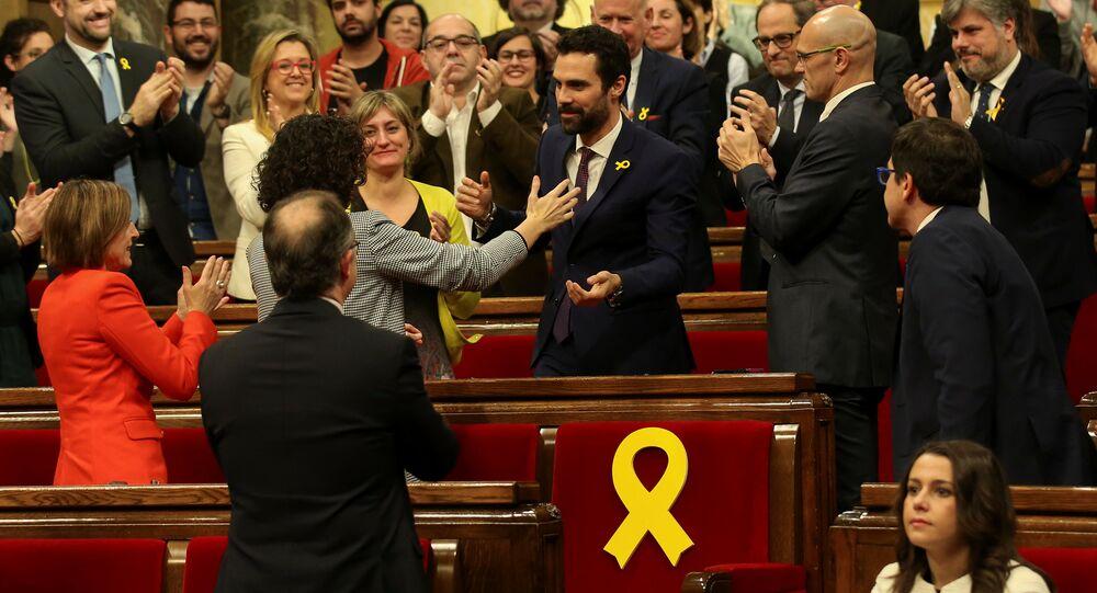 Katalan Parlamentosu Başkanı Roger Torrent