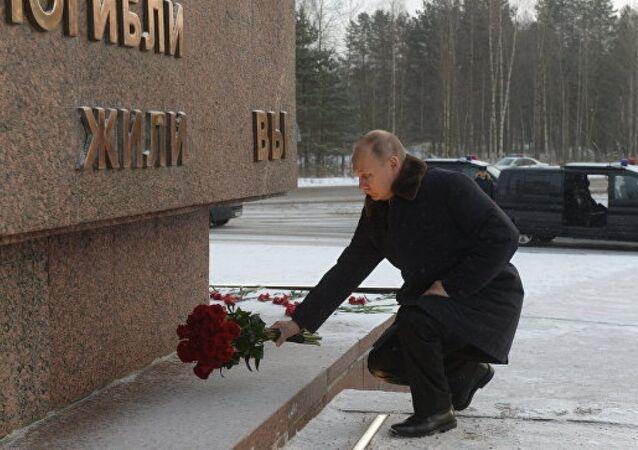 Putin Leningrad Kuşatması'nın kurbanlarını andı