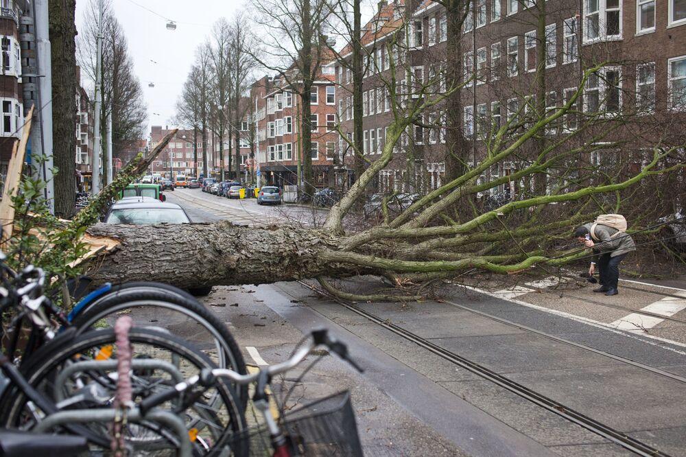 Hollanda'da dün tüm tren seferler ifırtına nedeniyle iptal edilmişti. Yetkililer fırtınanın ülkede 90 milyon euro'luk zarar meydana getirdiğini açıkladı. Fırtına Polonya'nın doğusuna ilerlemiş durumda.