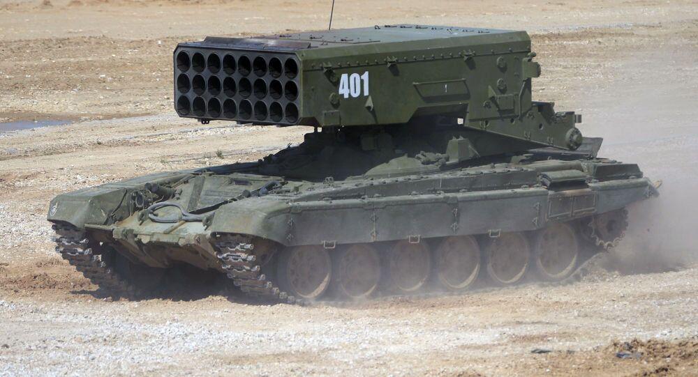 TOS-1 çok namlulu ağır roketatar sistemi