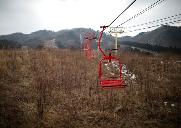 Güney Kore'de hayalet kayak merkezi Alps Ski Resort