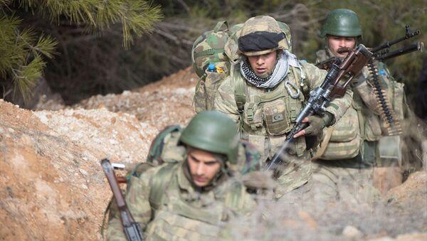 TSK, ÖSO ile Afrin'e Azez'den operasyon başlattı. - Sputnik Türkiye