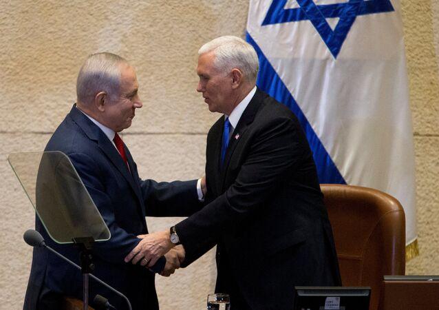 Pence Netanyahu İsrail meclisi Knesset