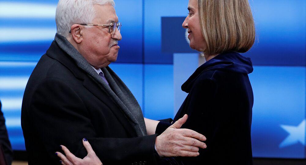 AB Dışişleri ve Güvenlik Politikaları Yüksek Temsilcisi Federica Mogherini- Filistin Devlet Başkanı Mahmud Abbas
