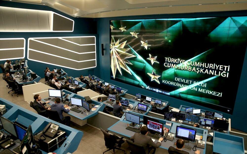 Zeytin Dalı Harekatı'nın yönetildiği Devlet Bilgi Koordinasyon Merkezi