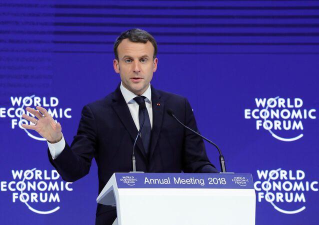 Emmanuel Macron - Davos