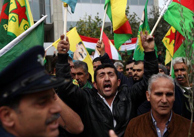 Lefkoşa'da Afrin protestosu