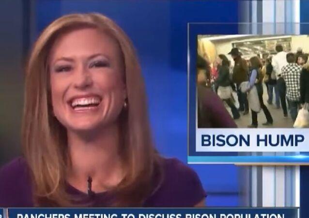 Bizonları anlatan ABD'li sunucu kendini gülmekten alamadı - VİDEO