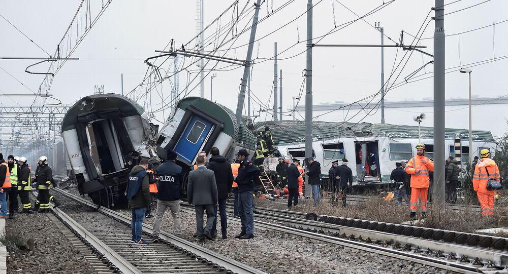 İtalya'da tren kazası