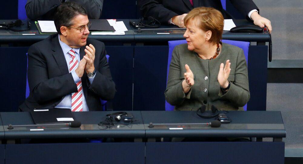 Angela Merkel Sigmar Gabriel Bundestag Berlin