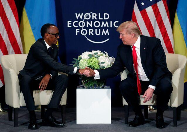 Donald Trump  Paul Kagame World Economic Forum (WEF) Davos 2018