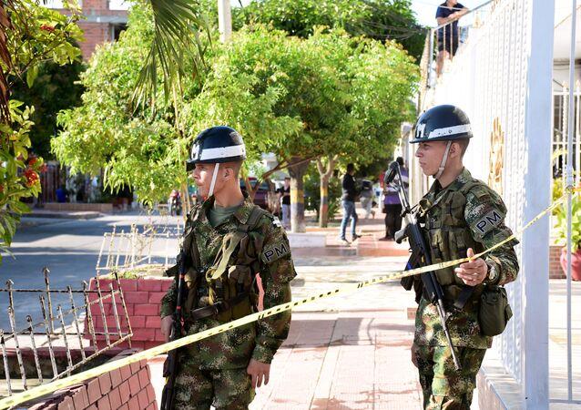Kolombiya'nın Barranquilla şehrinde polis