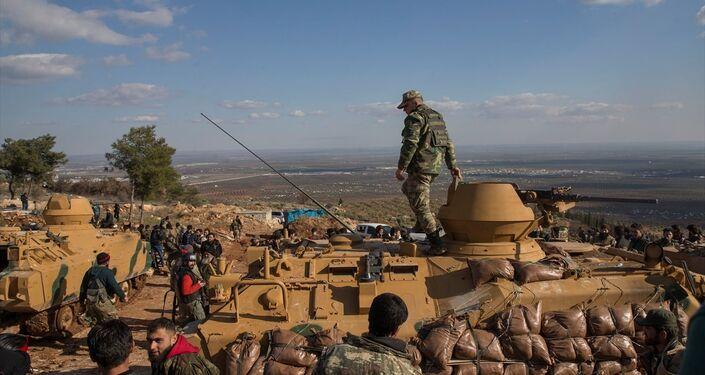 Zeytin Dalı Harekatı'nda Afrin'in kuzeydoğusundaki stratejik Burseya Dağı ele geçirildi.