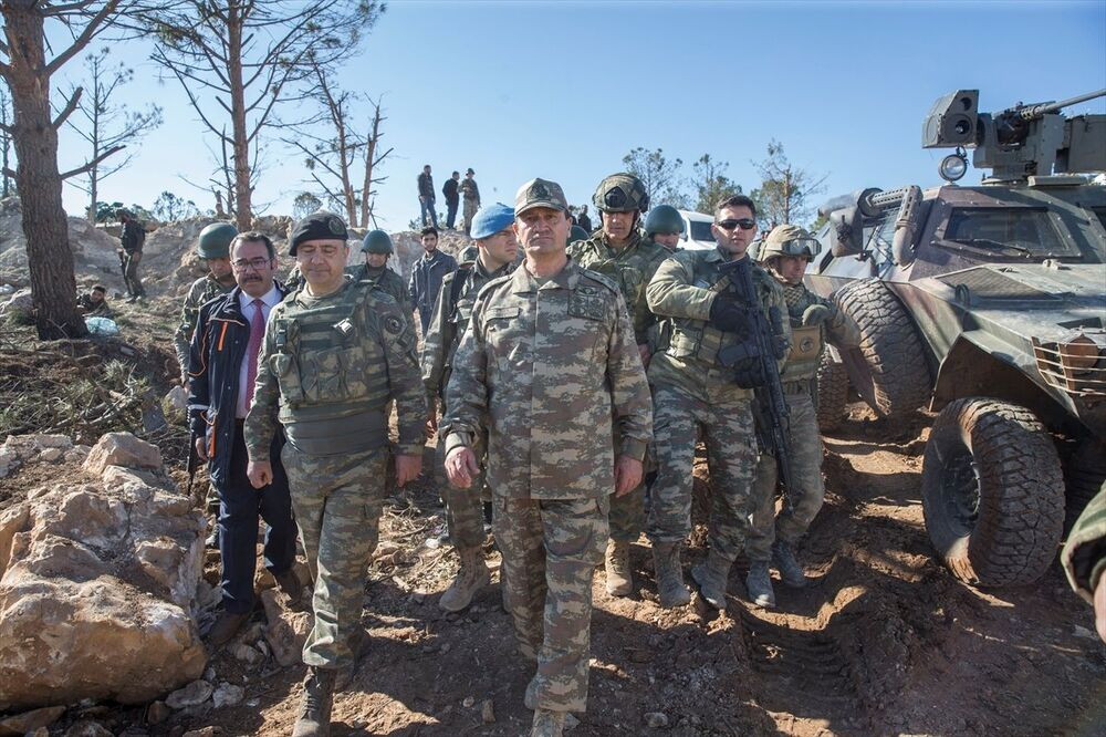 İkinci Ordu Komutanı Korgeneral İsmail Metin Temel, Burseya Dağı'nda