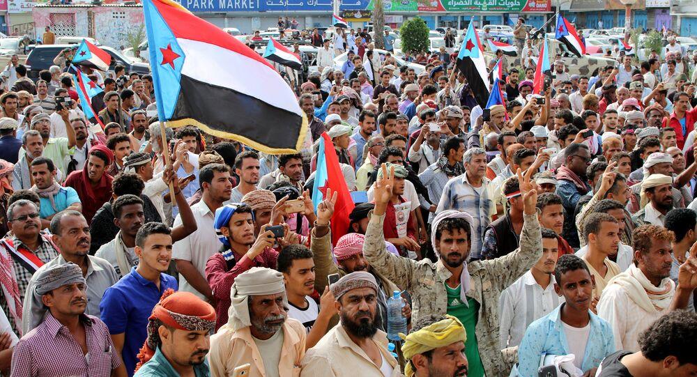 Güney Yemen ayrılıkçılar Aden gösteri