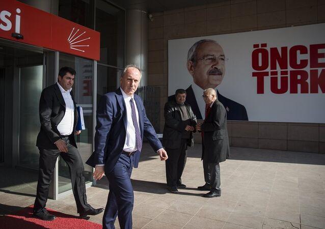 CHP Genel Başkanı Kemal Kılıçdaroğlu ile görüşen İnce, açıklamasının ardından partiden ayrıldı.