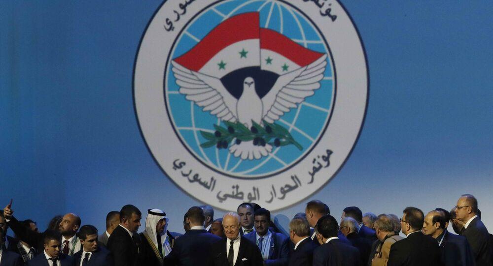 Soçi'de yapılan Suriye Ulusal Diyalog Kongresi