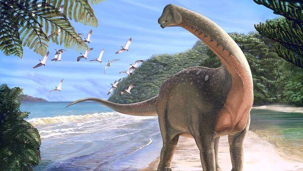 Afrika Mısır Sahra Çölü yeni dinozor türü Mansourasaurus shahinae - Sputnik Türkiye