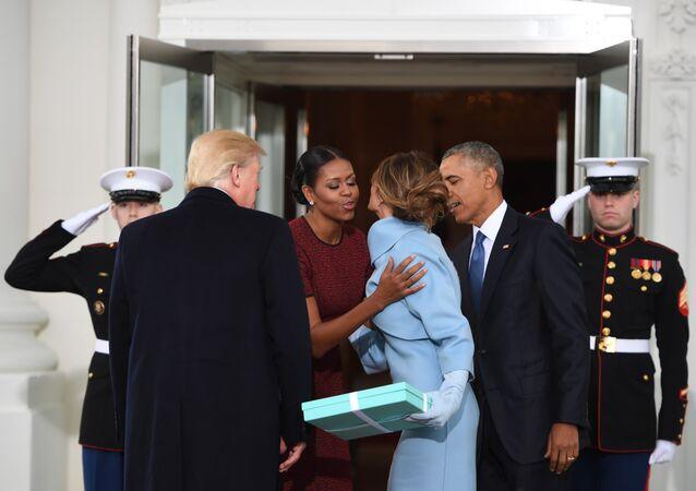 Barack Obama Michelle Obama Donald Trump Melania Trump Beyaz Saray Washington, DC  20 Ocak 2017