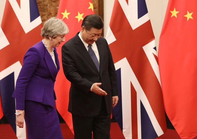 Şi Cinping Theresa May Pekin