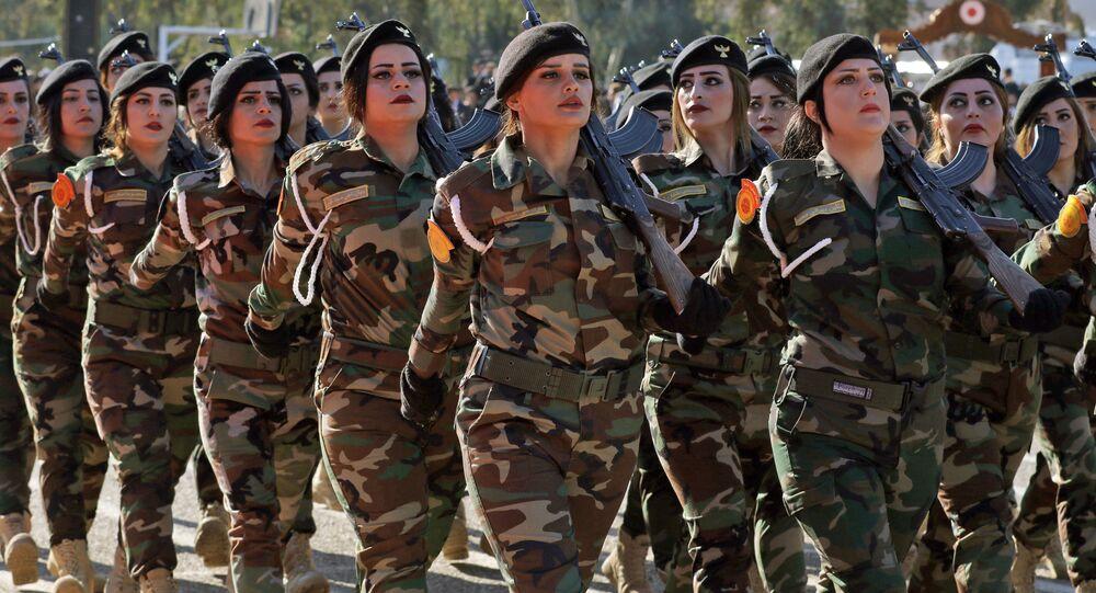 IKBY'de Peşmerge savaşçılarının mezuniyet töreni