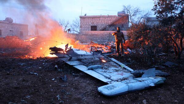 Suriye'de Rus savaş uçağı düşürüldü - Sputnik Türkiye