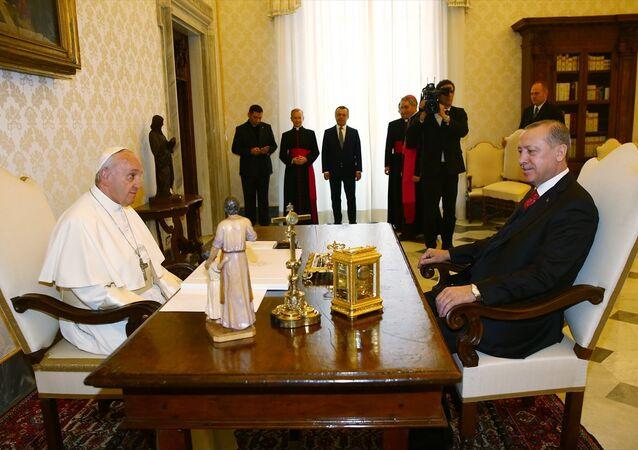 Papa Francis - Cumhurbaşkanı Recep Tayyip Erdoğan
