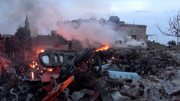 Suriye'de düşürülen Rus savaş uçağı - Sputnik Türkiye
