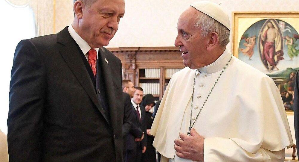 Cumhurbaşkanı Recep Tayyip Erdoğan - Papa Francis