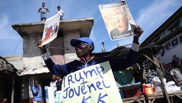 Haiti'de Trump karşıtı bir eylem - Sputnik Türkiye