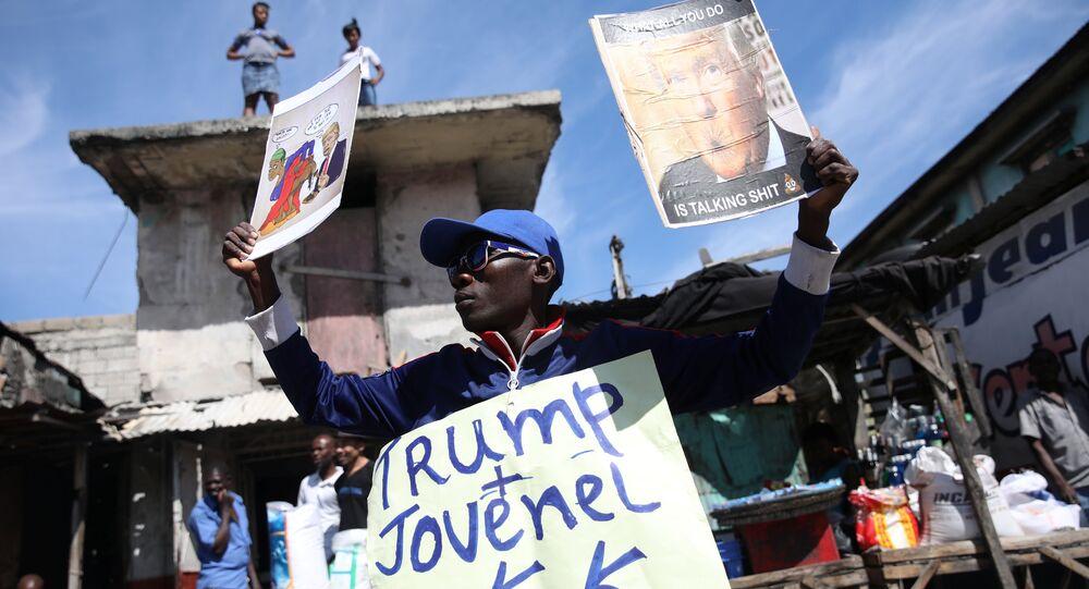 Haiti'de Trump karşıtı bir eylem