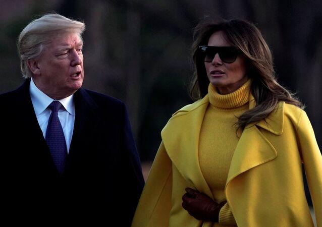 ABD Başkanı Donald Trump- First Lady Melania Trump