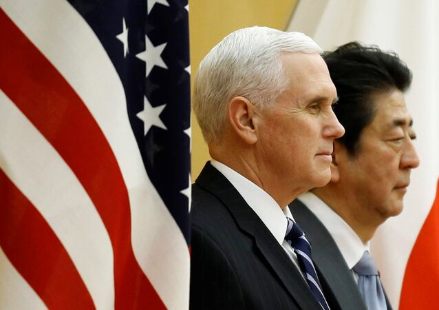 ABD Başkan Yardımcısı Mike Pence-Japonya Başbakanı Şinzo Abe