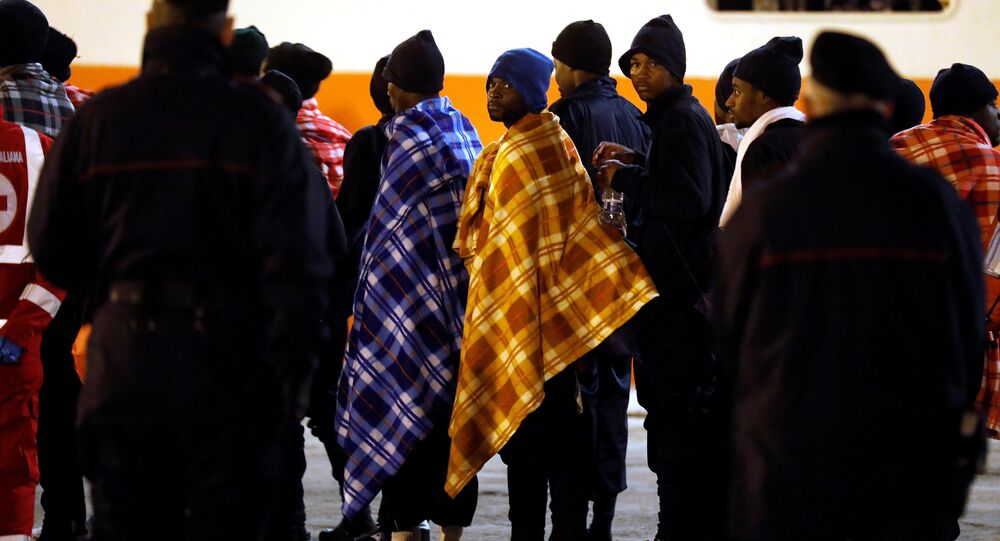 Avrupa Afrikalı göçmenler İtalya Sicilya