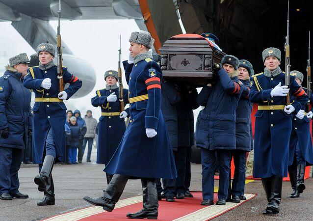 Su-25 uçağının pilotu Filipov için askeri veda töreni